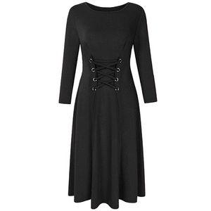 Dresses & Skirts - NWOT Black Midi Corset Dress